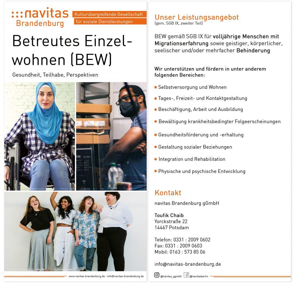 navitas Brandenburg gGmbH Flyer